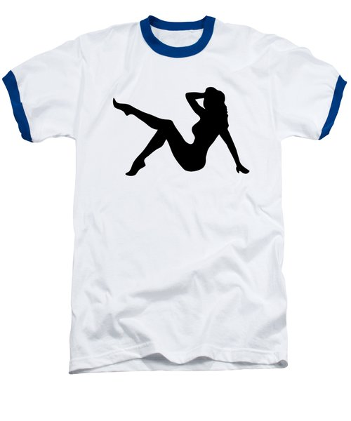 Sexy Trucker Girl Tee Baseball T-Shirt by Edward Fielding