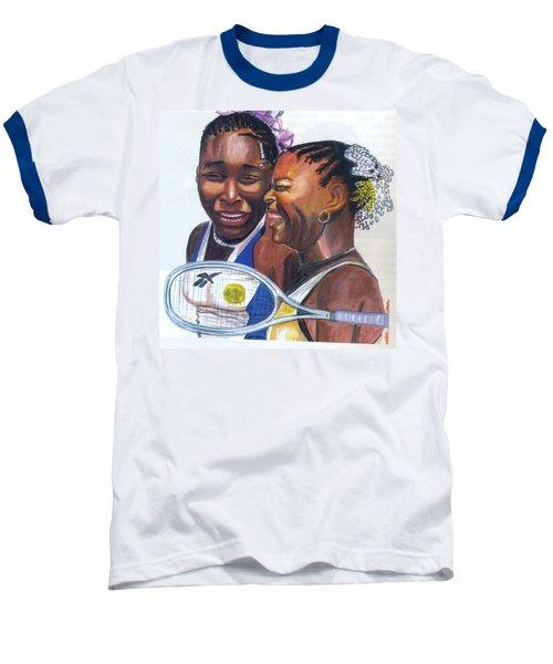 Sisters Williams Baseball T-Shirt by Emmanuel Baliyanga