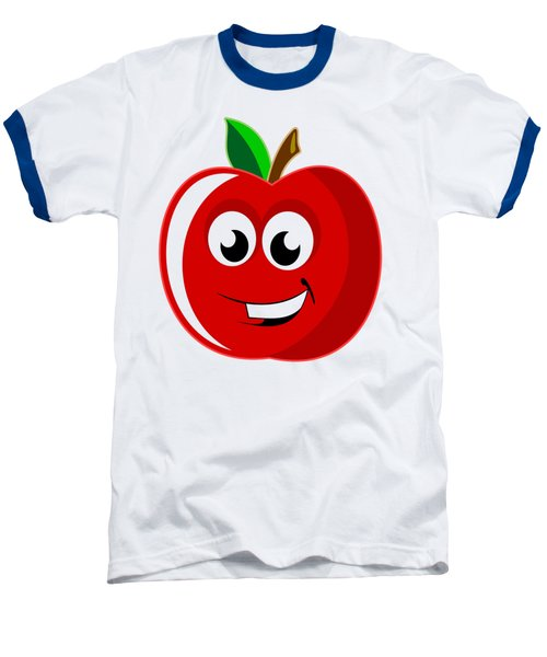 Smiley Tomato With Changeable Background  Baseball T-Shirt by Sebastien Coell