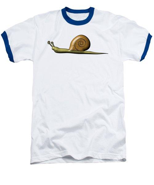 Snail Baseball T-Shirt by Michal Boubin