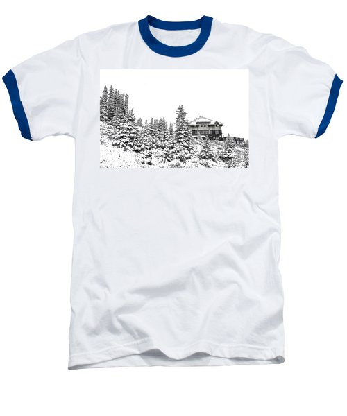 Baseball T-Shirt featuring the photograph Snow In July 2 by Teresa Zieba