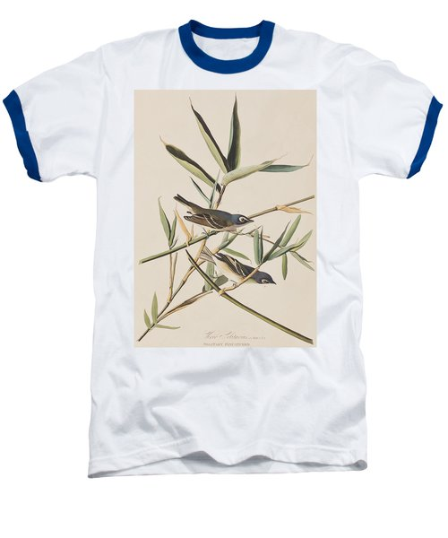 Solitary Flycatcher Or Vireo Baseball T-Shirt by John James Audubon