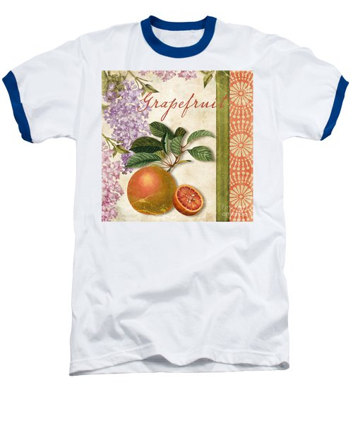 Summer Citrus Grapefruit Baseball T-Shirt by Mindy Sommers