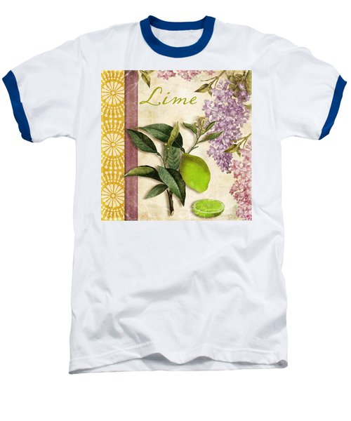 Summer Citrus Lime Baseball T-Shirt by Mindy Sommers