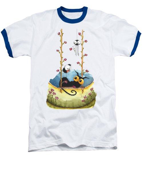 Summer Swing Baseball T-Shirt by Lucia Stewart