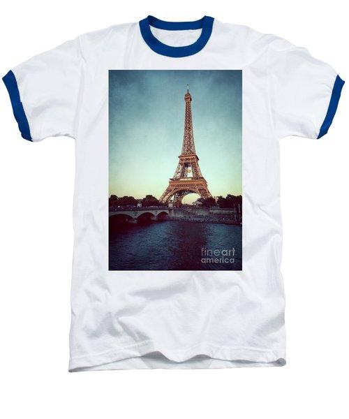 Baseball T-Shirt featuring the photograph The Eifeltower by Hannes Cmarits