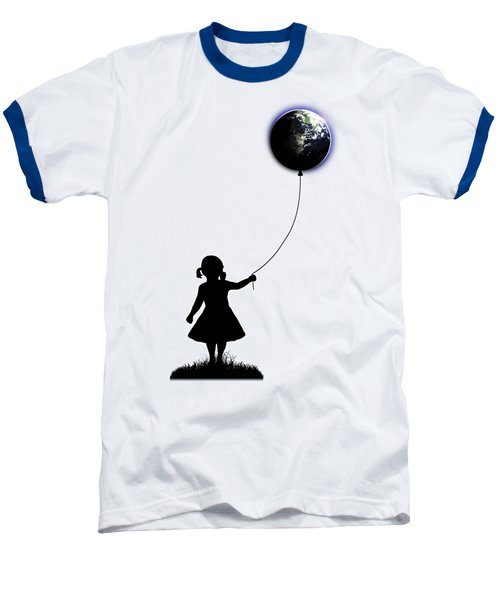 The Girl That Holds The World - White  Baseball T-Shirt by Nicklas Gustafsson