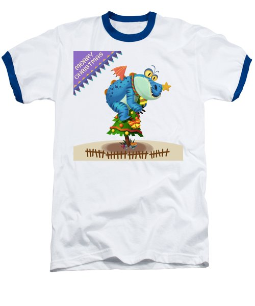 The Sloth Dragon Monster Comes To Wish You Merry Christmas Baseball T-Shirt by Next Mars