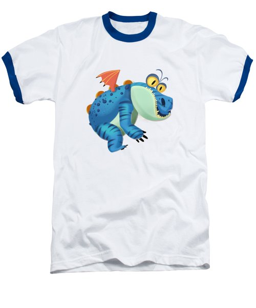 The Sloth Dragon Monster Baseball T-Shirt by Next Mars