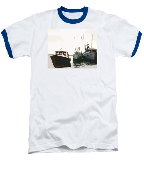 Baseball T-Shirt featuring the photograph Three Boats by Walter Chamberlain