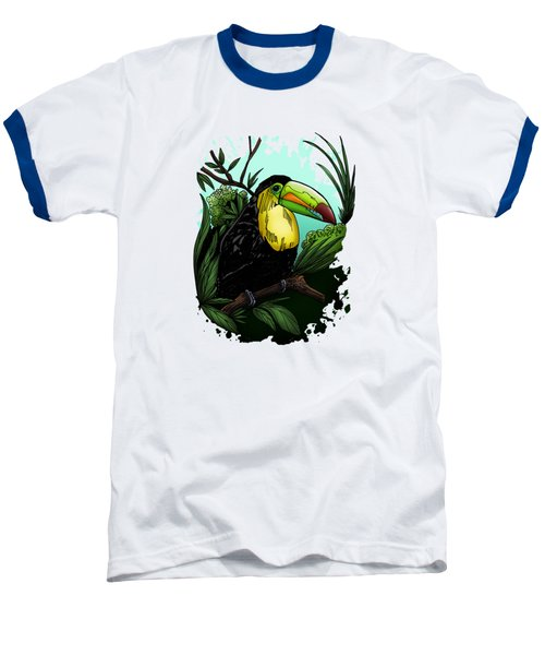 Toucan Baseball T-Shirt by Adam Santana