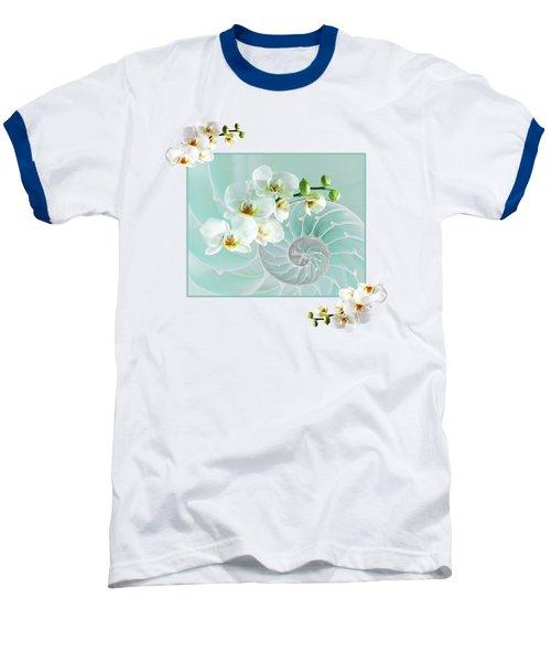 Turquoise Fusion Baseball T-Shirt by Gill Billington