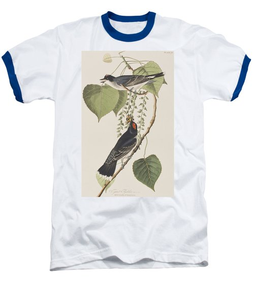 Tyrant Fly Catcher Baseball T-Shirt by John James Audubon