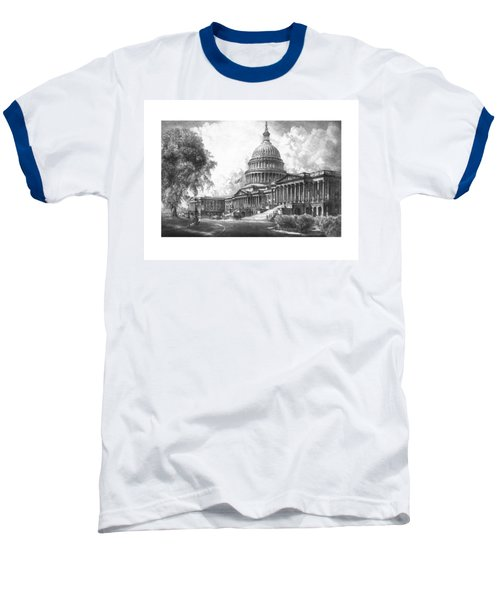 United States Capitol Building Baseball T-Shirt by War Is Hell Store