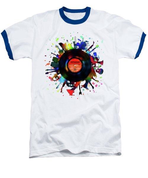 Unplugged Baseball T-Shirt by Mustafa Akgul
