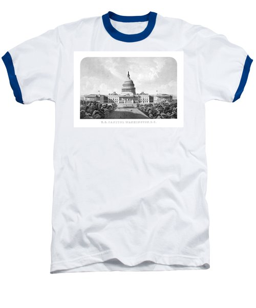 Us Capitol Building - Washington Dc Baseball T-Shirt by War Is Hell Store