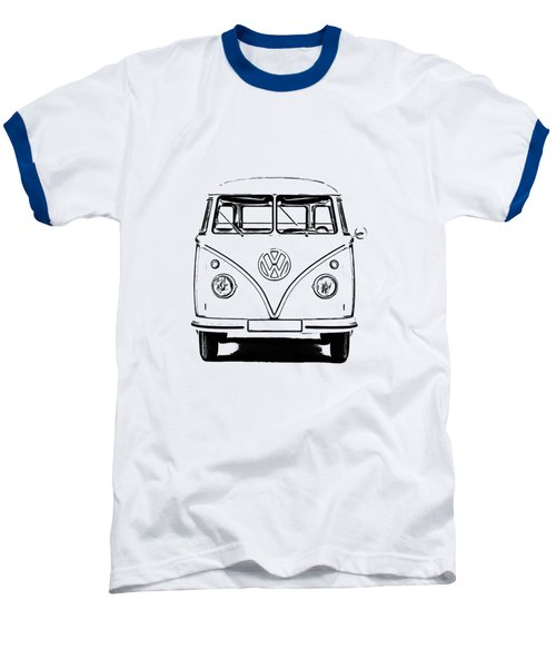 Vw Bus T-shirt Baseball T-Shirt by Edward Fielding