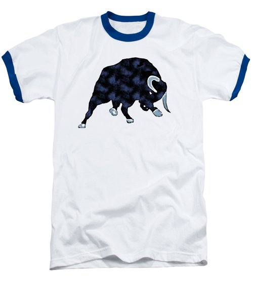 Wall Street Bull Market Series 1 T-shirt Baseball T-Shirt by Edward Fielding