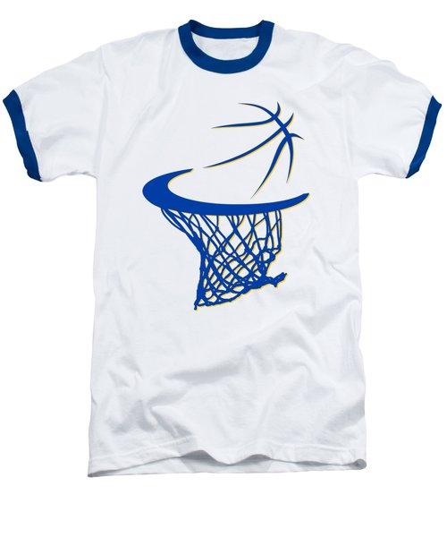 Warriors Basketball Hoop Baseball T-Shirt by Joe Hamilton