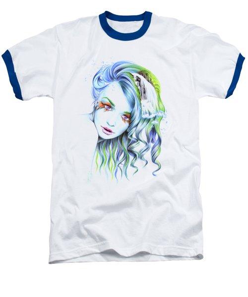 Water Baseball T-Shirt by E Drawings
