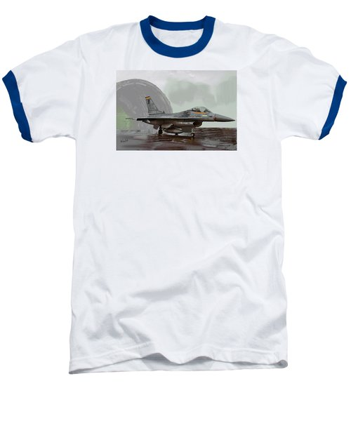 Baseball T-Shirt featuring the digital art Weather Day by Walter Chamberlain