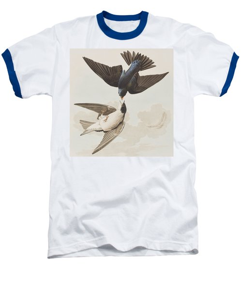 White-bellied Swallow Baseball T-Shirt by John James Audubon