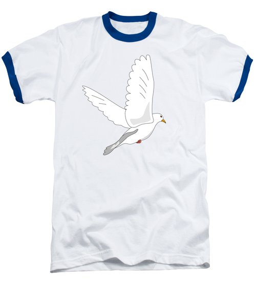 White Dove Baseball T-Shirt by Miroslav Nemecek