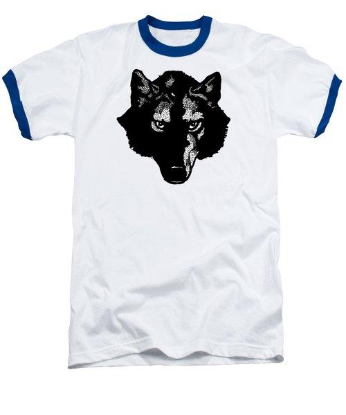 Wolf Tee Baseball T-Shirt by Edward Fielding