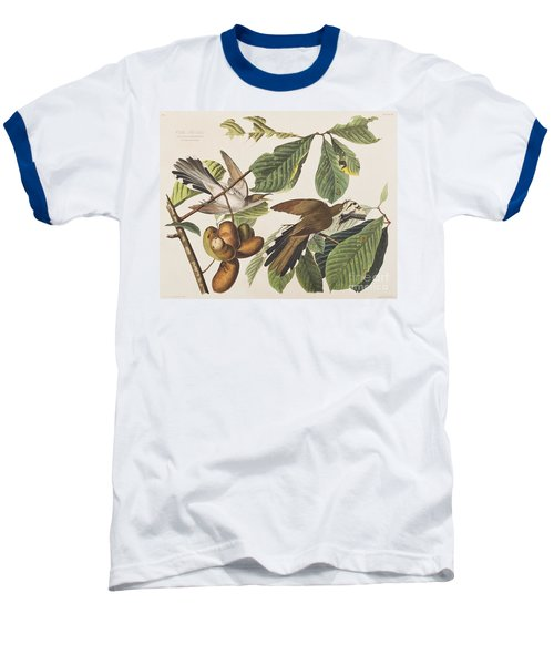 Yellow Billed Cuckoo Baseball T-Shirt by John James Audubon