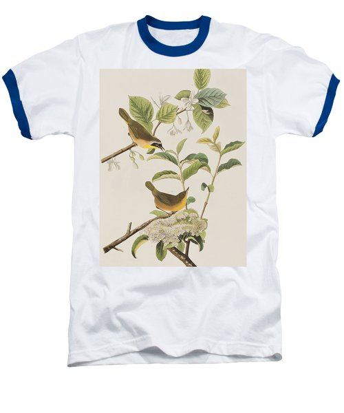 Yellow-breasted Warbler Baseball T-Shirt by John James Audubon