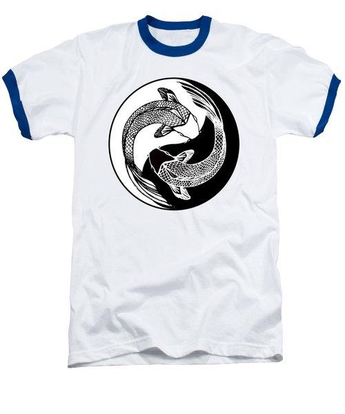 Yin Yang Fish Baseball T-Shirt by Stephen Humphries