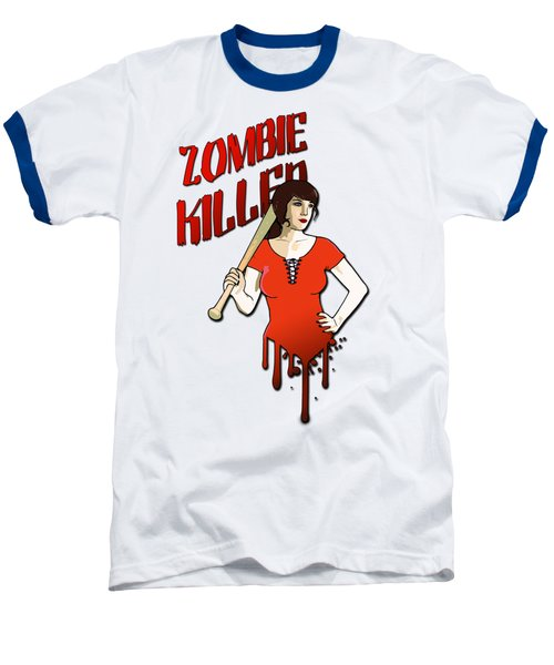 Zombie Killer Baseball T-Shirt by Nicklas Gustafsson