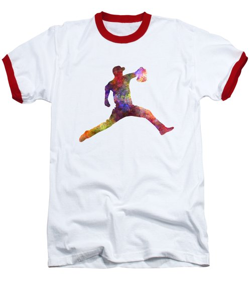 Baseball Player Throwing A Ball Baseball T-Shirt by Pablo Romero