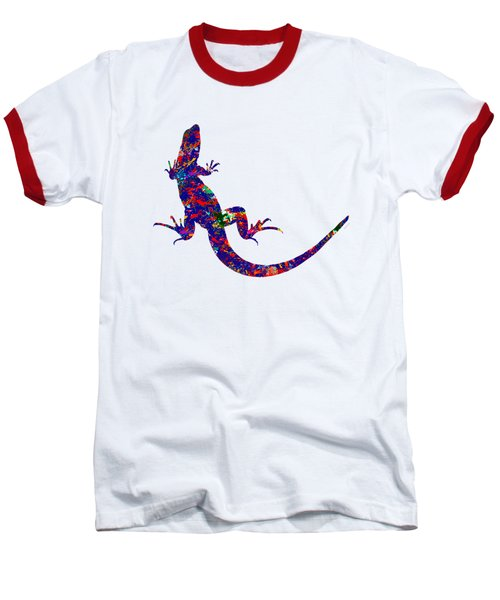 Colourful Lizard Baseball T-Shirt by Bamalam  Photography