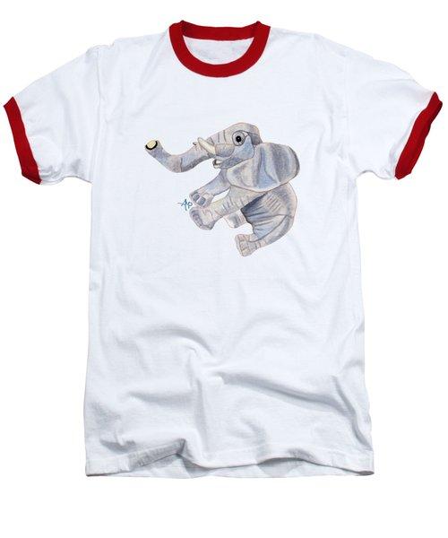 Cuddly Elephant IIi Baseball T-Shirt by Angeles M Pomata