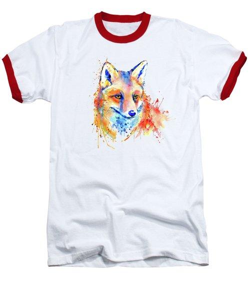 Cute Foxy Lady Baseball T-Shirt by Marian Voicu