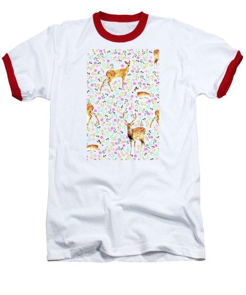 Deers Baseball T-Shirt by Uma Gokhale