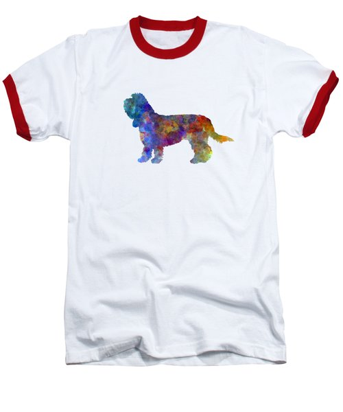 Grand Basset Griffon Vendeen In Watercolor Baseball T-Shirt by Pablo Romero