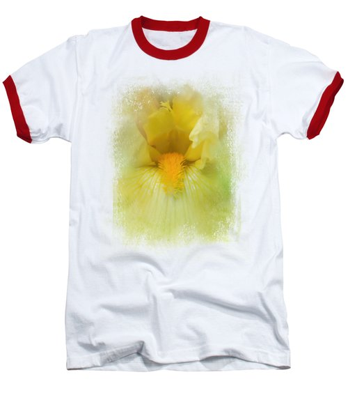 Iris In Lime Baseball T-Shirt by Jai Johnson