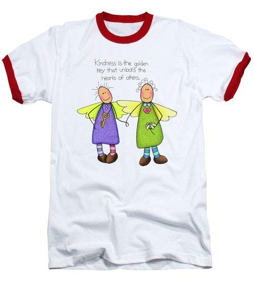 Kindness Baseball T-Shirt by Sarah Batalka