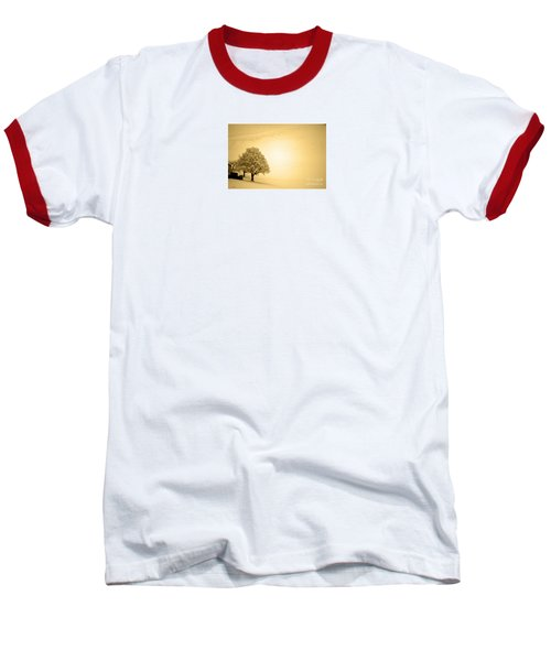 Baseball T-Shirt featuring the photograph Lost In Snow - Winter In Switzerland by Susanne Van Hulst