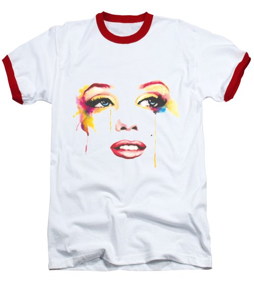 Marilyn T-shirt Baseball T-Shirt by Herb Strobino
