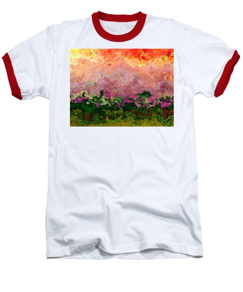 Baseball T-Shirt featuring the digital art Meadow Morning by Wendy J St Christopher