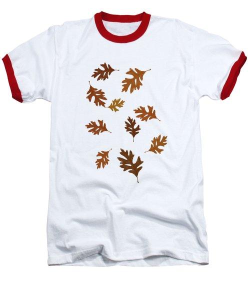 Oak Leaves Art Baseball T-Shirt by Christina Rollo