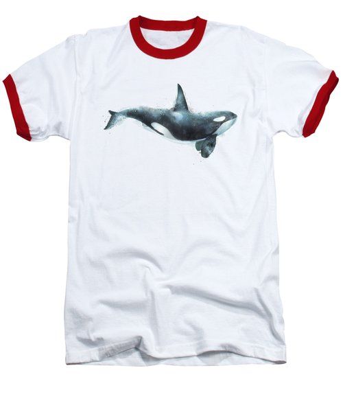 Orca Baseball T-Shirt by Amy Hamilton