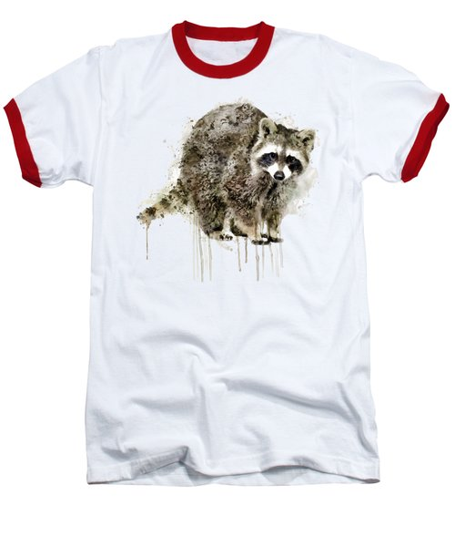 Raccoon Baseball T-Shirt by Marian Voicu