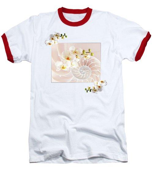 Soft Pink Fusion Baseball T-Shirt by Gill Billington