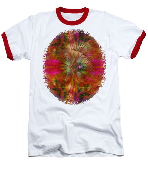 Strawberry Fields Abstract Baseball T-Shirt by Sharon and Renee Lozen