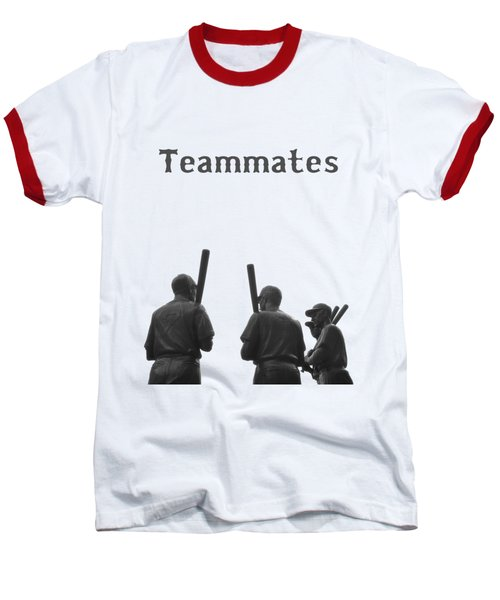 Teammates Poster - Boston Red Sox Baseball T-Shirt by Joann Vitali