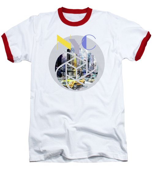 Trendy Design New York City Geometric Mix No 3 Baseball T-Shirt by Melanie Viola